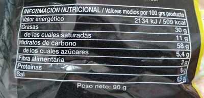 Palomitas dulces - Nutrition facts - es