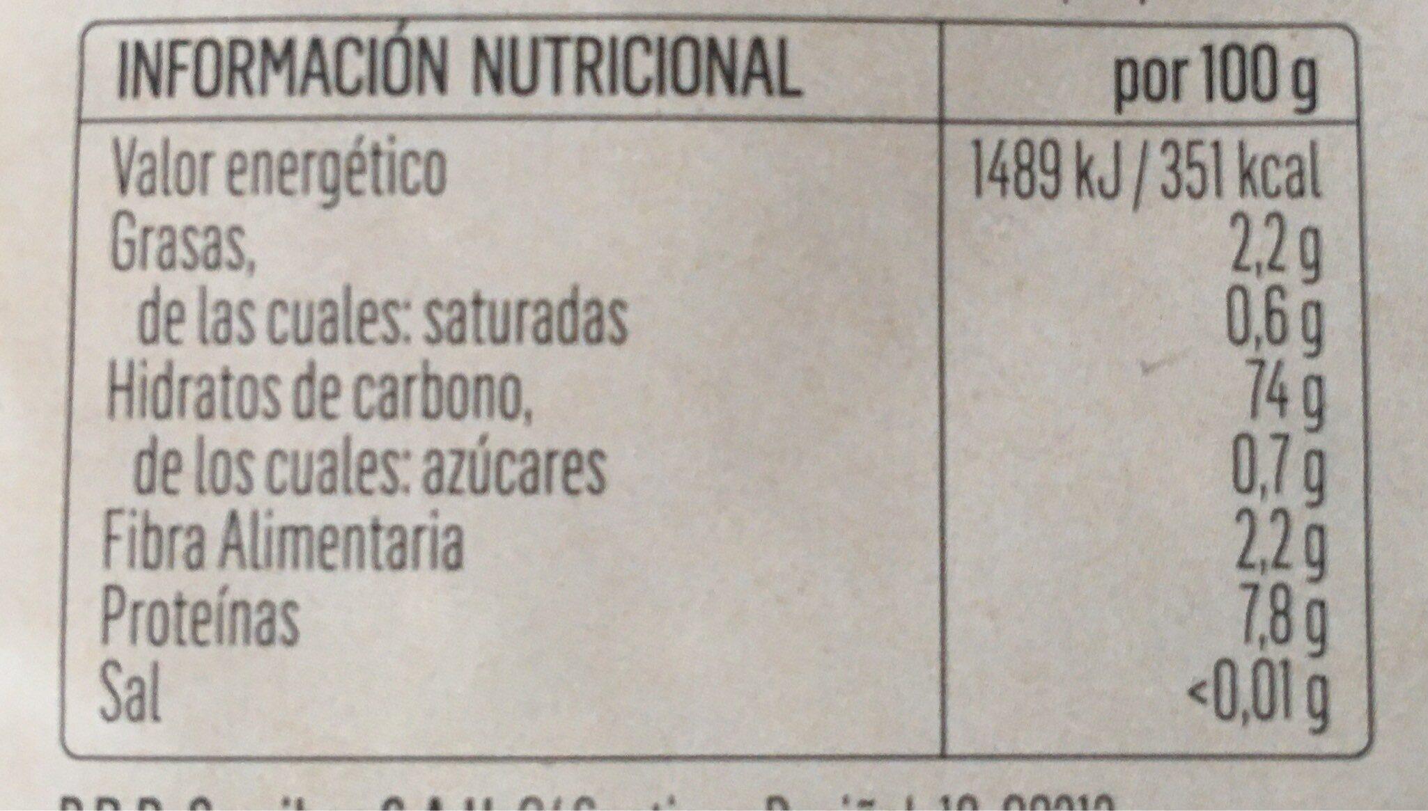 Arroz - Informations nutritionnelles - fr