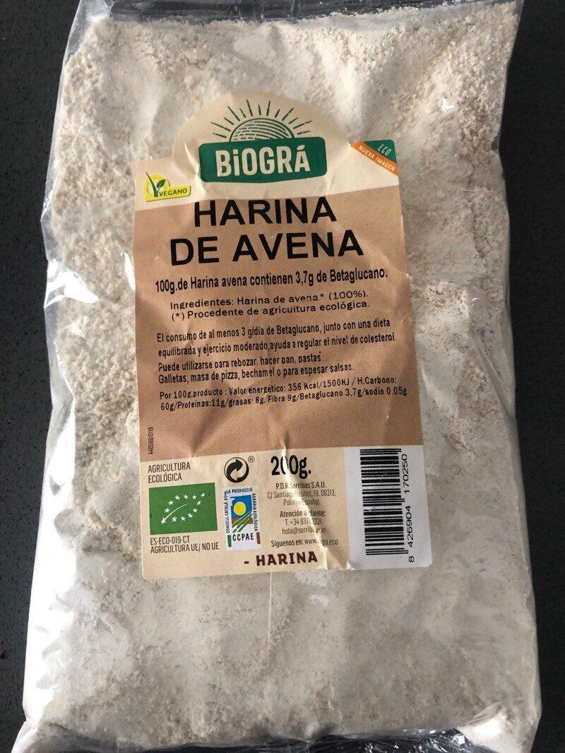 Harina de avena - Ingrediënten