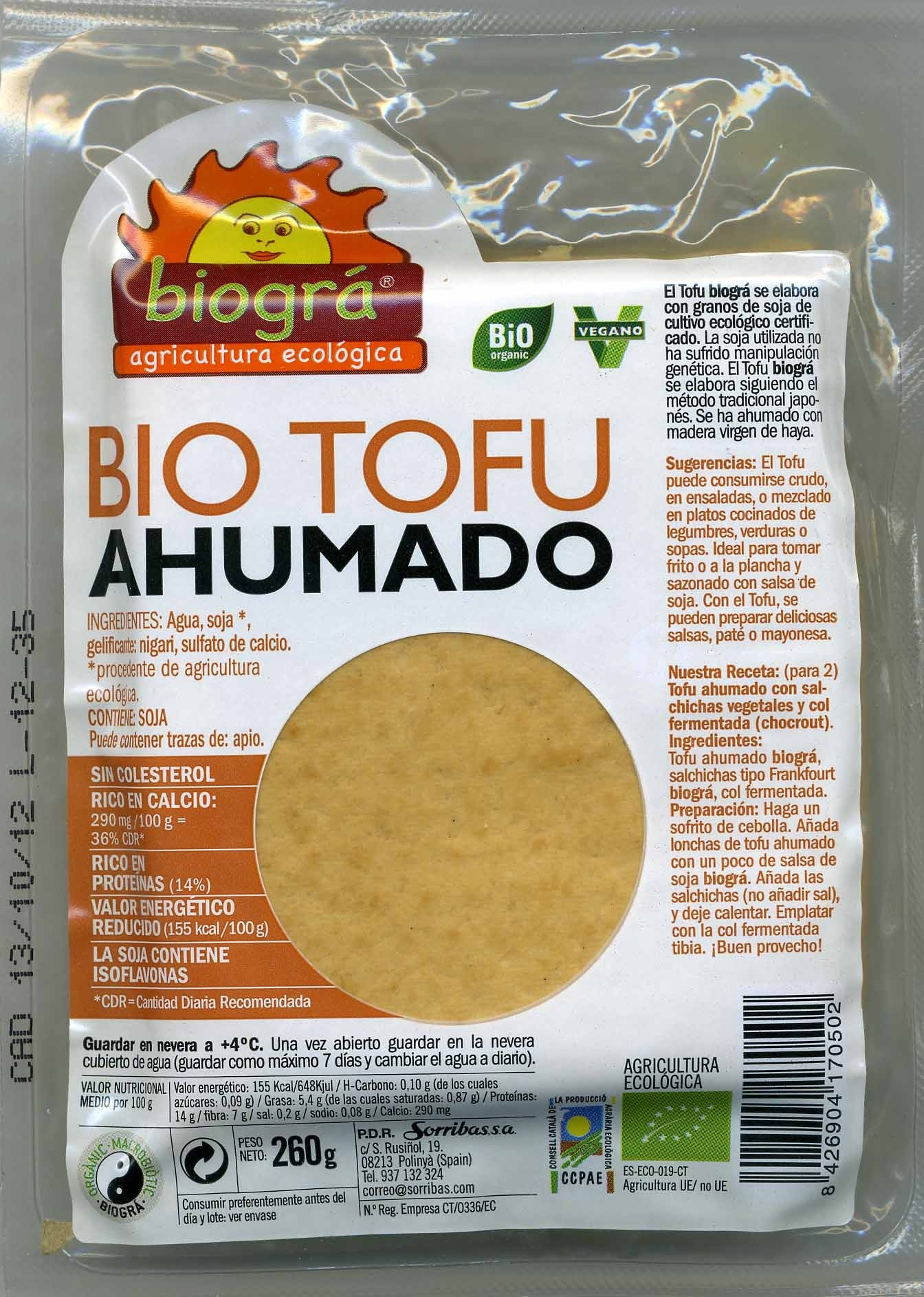 Tofu Ahumado - Product - es