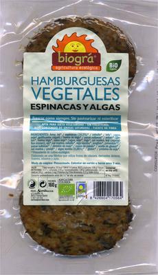 Burguers vegetales de espinacas y algas con tofu - Produit
