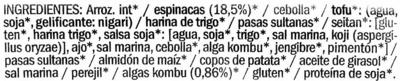 Hamburguesas vegetales Espinacas y algas - Ingredients