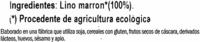 Lino marrón - Ingredients - es