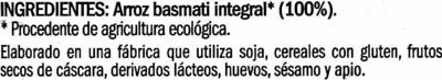 Arroz integral Variedad Basmati - Ingredientes