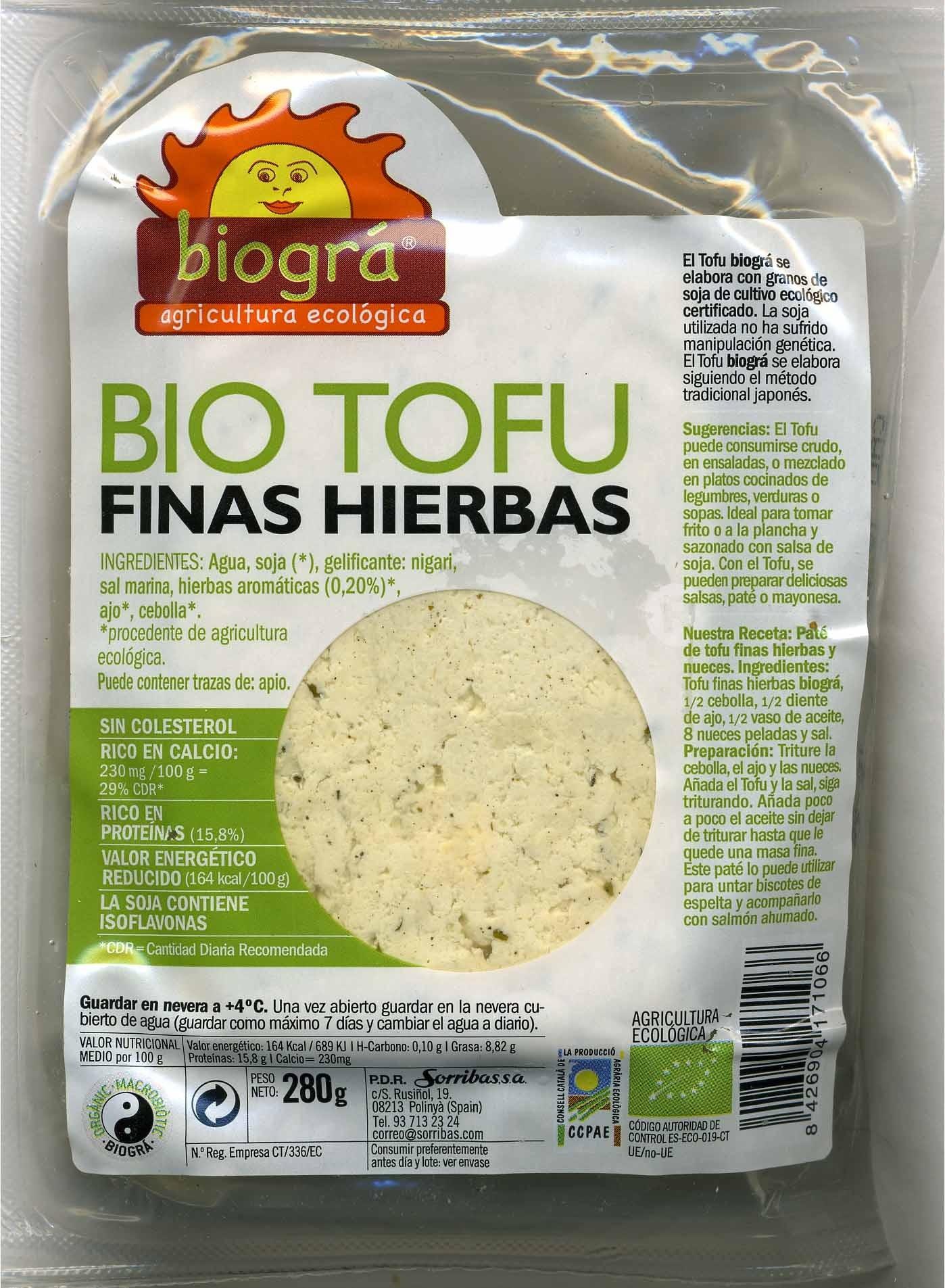 Bio Tofu Finas hierbas - Producto - es