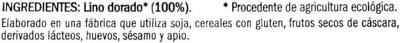 Semillas de lino dorado - Ingrédients - es