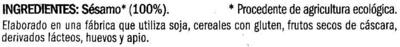 "Sésamo crudo ecológico ""Biográ"" - Ingredients"