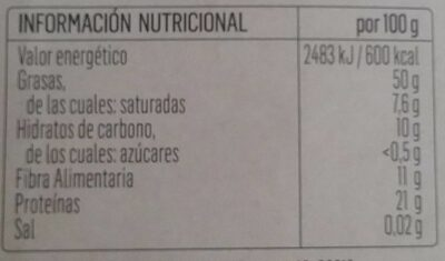 Sésamo crudo - Información nutricional - es