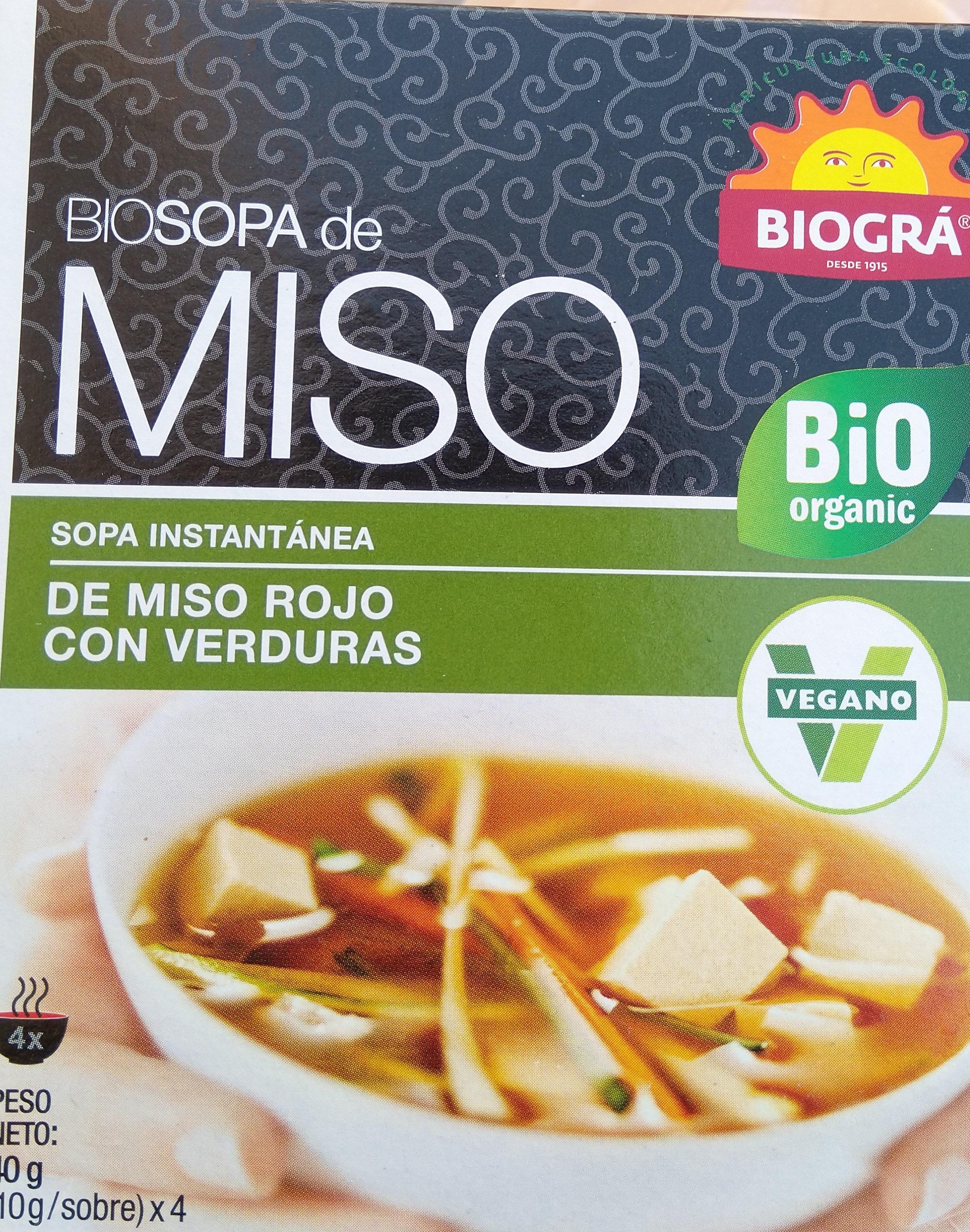 Biosopa de Miso Rojo con Verduras - Producto
