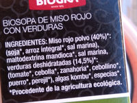 biosopa de miso - Ingredients