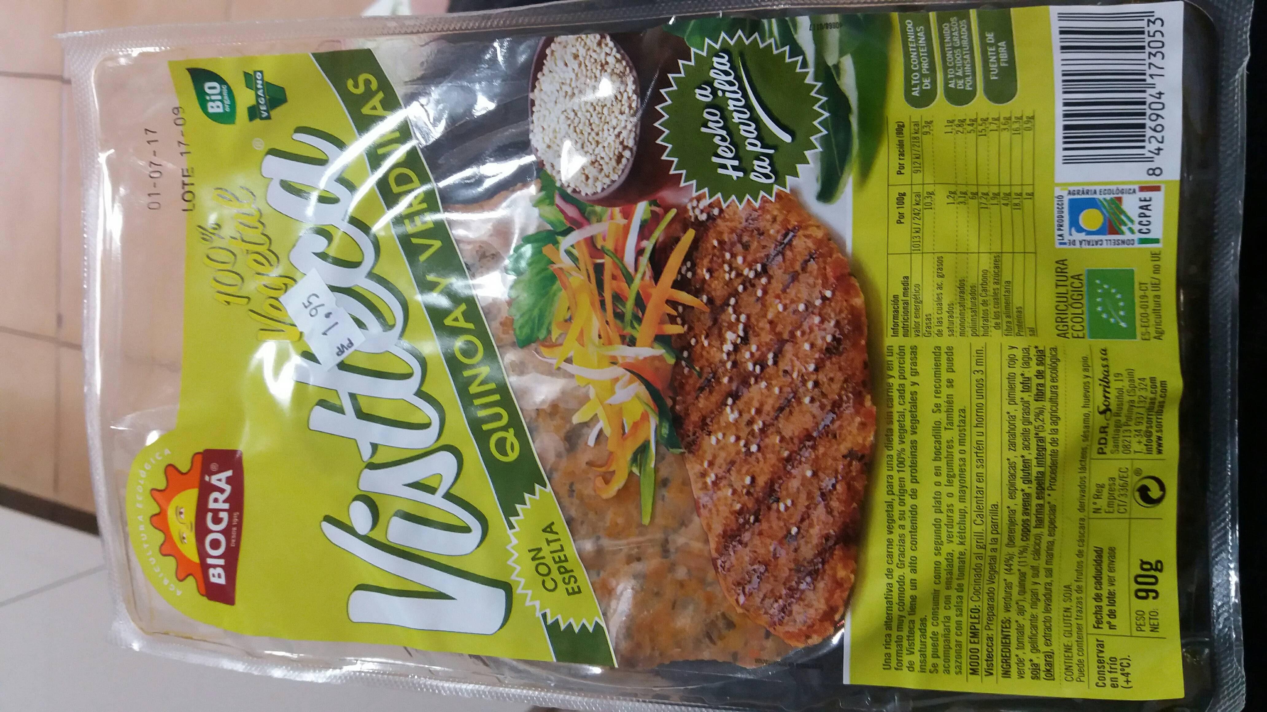 Vistecca quinoa y verduras - Product - en