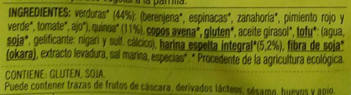Vistecca quinoa y verduras - Ingredientes