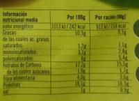 Vistteca Quinoa y verduras (filete vegetal) - Nutrition facts