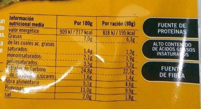 Vistteca cereales y semillas - Informació nutricional