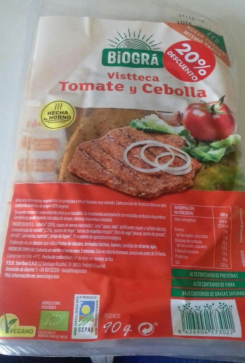 Vistecca Tomate y Cebolla Biográ - Product