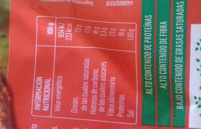 Vistecca Tomate y Cebolla Biográ - Nutrition facts
