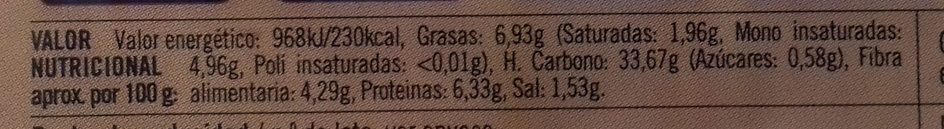 Hamburguesas Verduras y Legumbres Lenteja roja y chía - Voedingswaarden - es