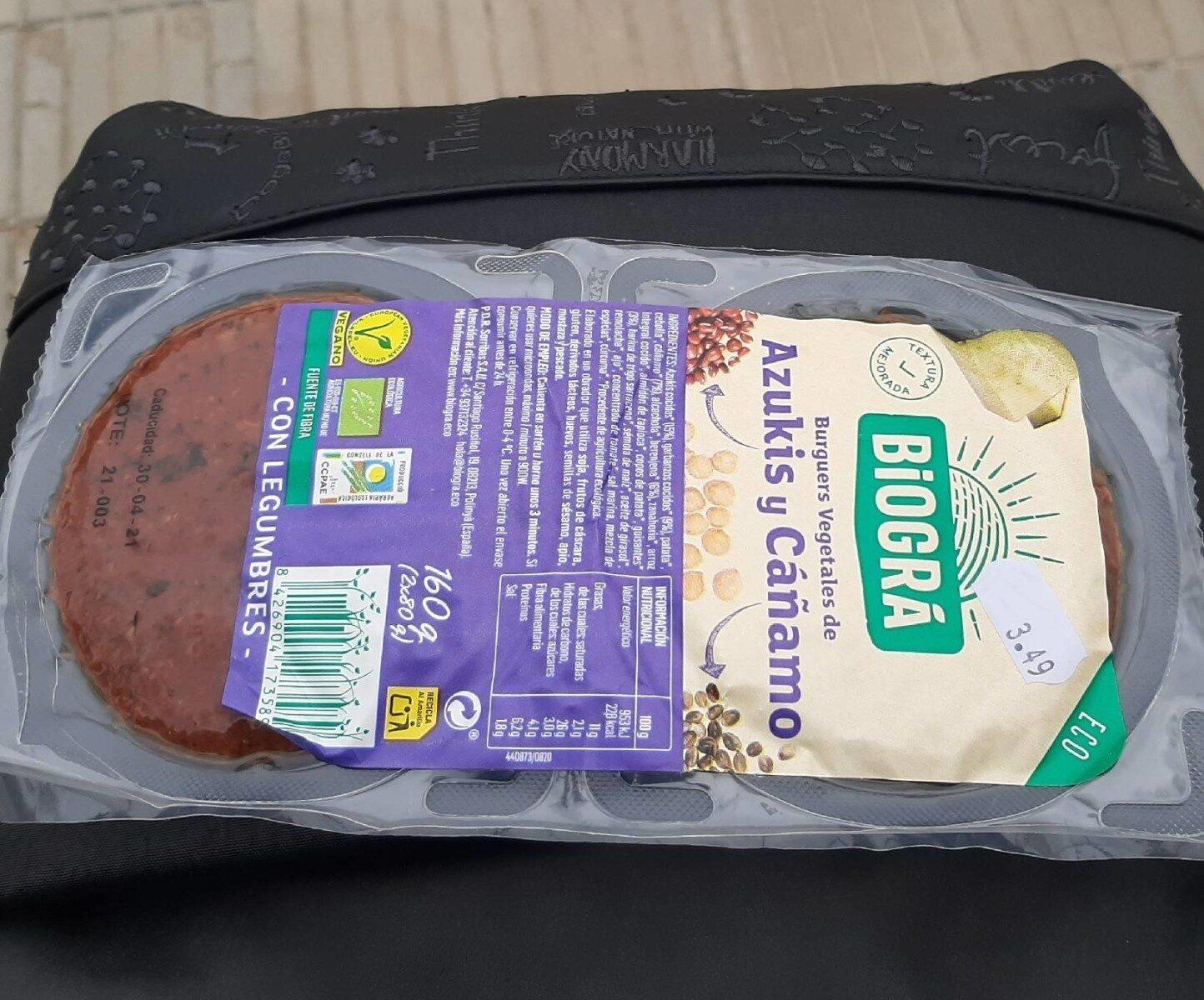 Burguers vegetales de azuquis y cáñamo - Produit - es