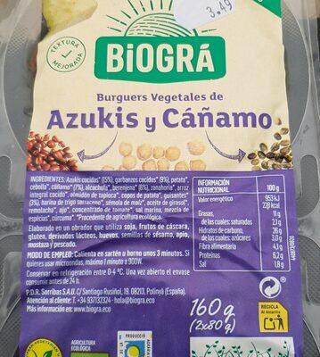 Burguers vegetales de azuquis y cáñamo - Valori nutrizionali - es