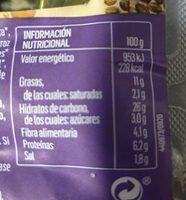 Burguers vegetales de azuquis y cáñamo - Informations nutritionnelles - es