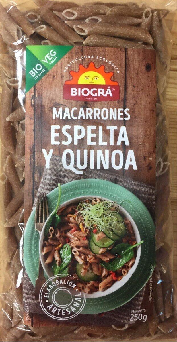 Macarrones Espelta y Quinoa - Producto