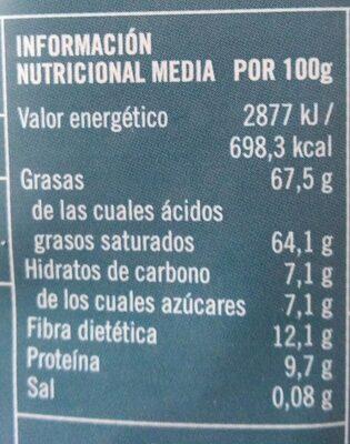 Chips de coco - Informations nutritionnelles - es