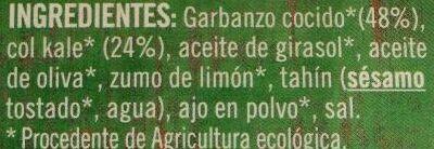 Hummus kale - Ingredients