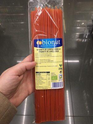 spaghetti lenteja roja - Producte