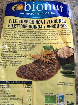 Filettone quinoa y verduras - Producte