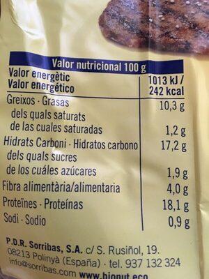 Filetonne de quinoa y verduras - Informació nutricional