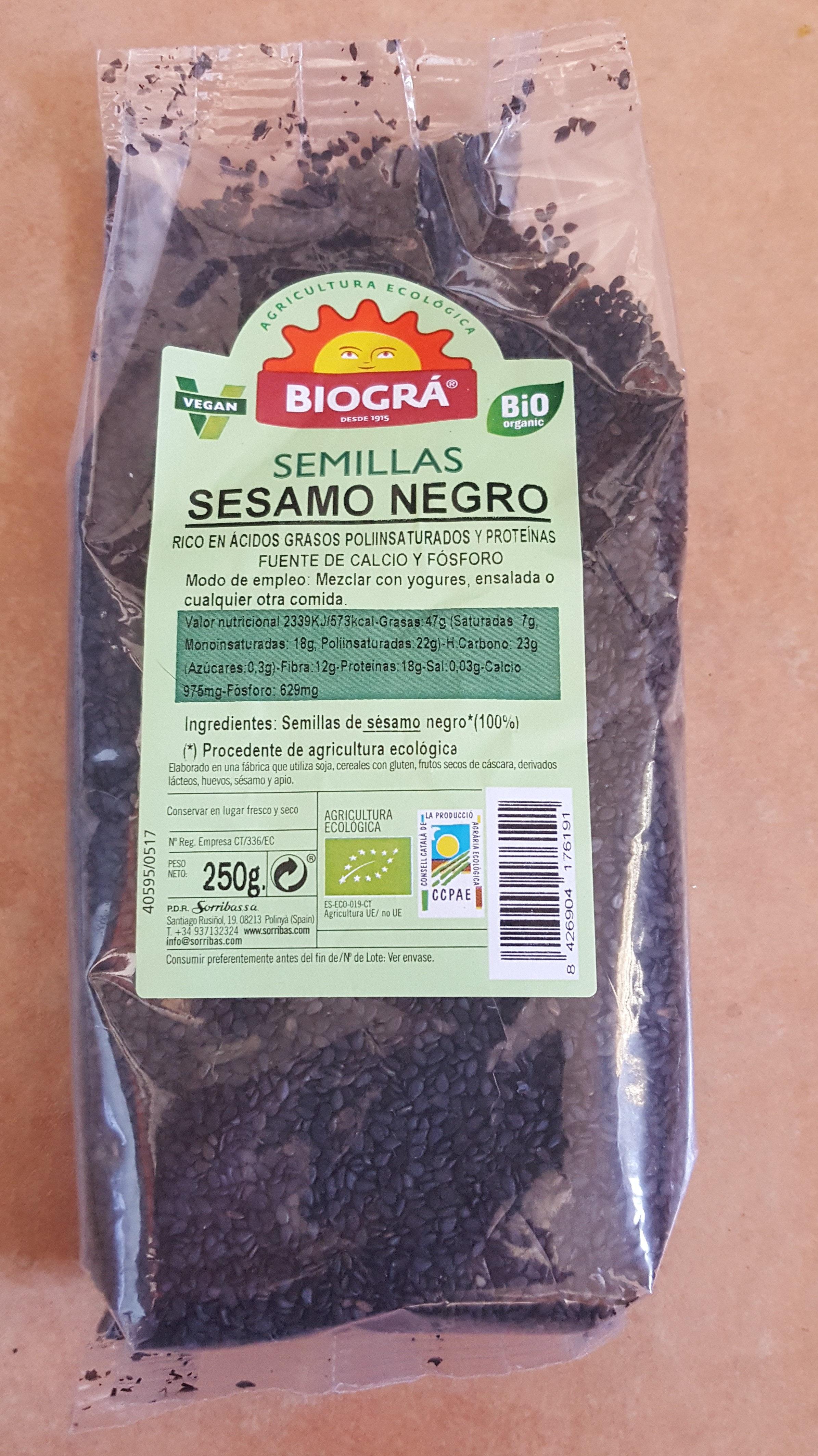 Semillas de sésamo negro - Producto - es