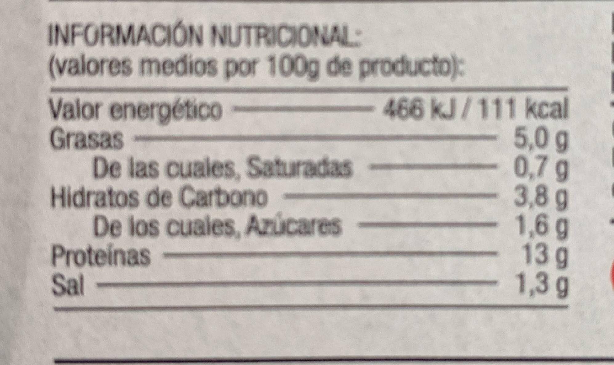 Mejillones en salsa vieira - Nutrition facts - fr