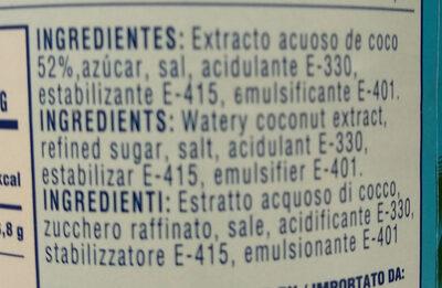 Crema de coco - Ingredients - es