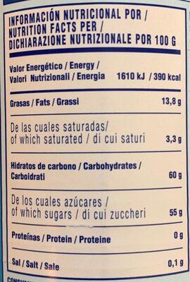 Crema de coco - Nutrition facts - es
