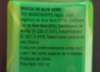 Bebida de aloe vera - Ingredientes - es