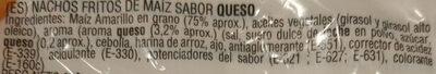 Nachos corn tortilla chips sabor queso GOYA - Ingredientes - es