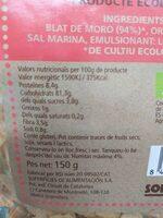 Cereales de maiz - Informació nutricional - es