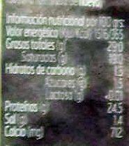 Quedo en lonchas pradolongo sin lactosa - Información nutricional
