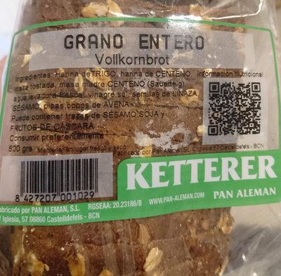 Pan De Grano Entero Ketterer - Producte