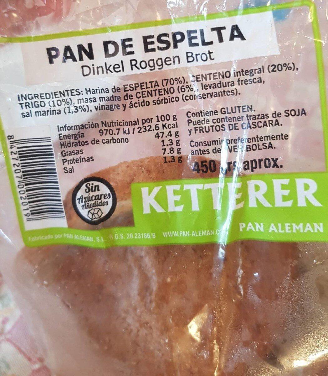 Pan  de espelta - Producto