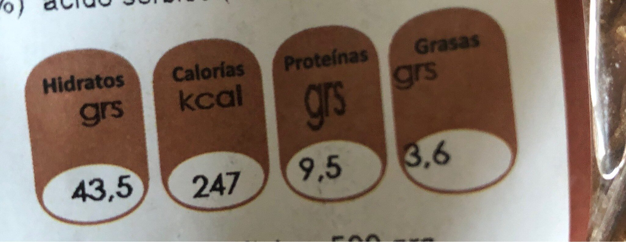 Vegan brot pan de chía y quinoa - Voedingswaarden - fr