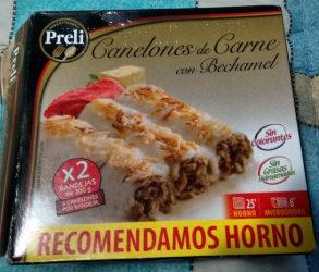 Canelones de Carne con Bechamel - Producto