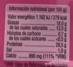 Queso tierno light - Informations nutritionnelles - es