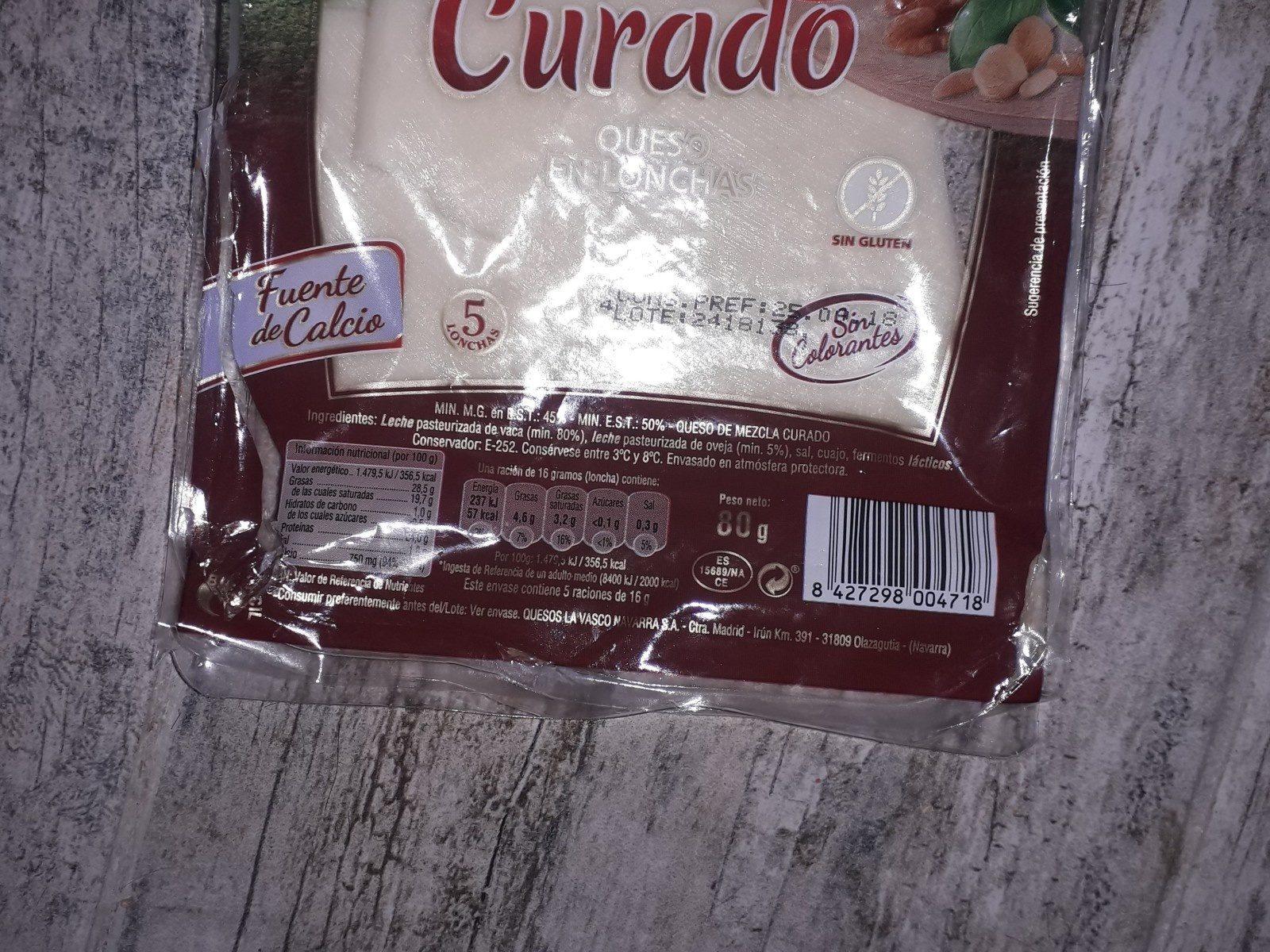 Curado - Ingrediënten - fr