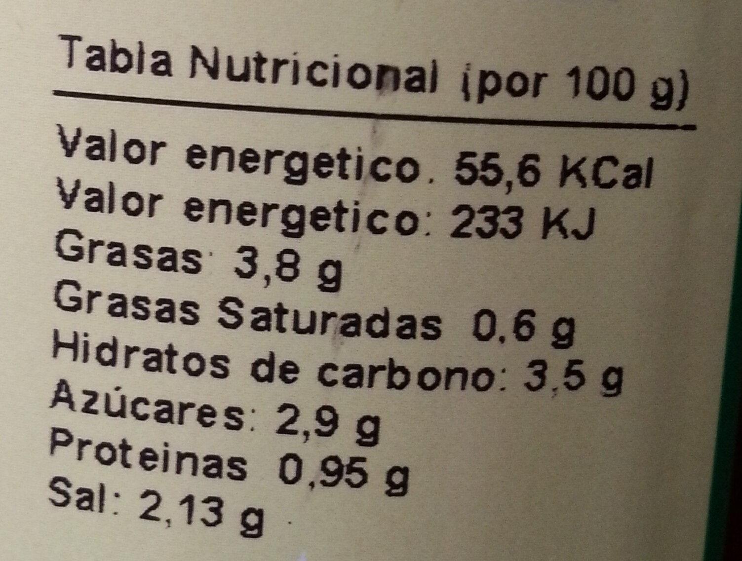 Banderillas - Nutrition facts - es