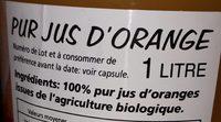 Cal Valls Orange Juice Eco - Ingrediënten