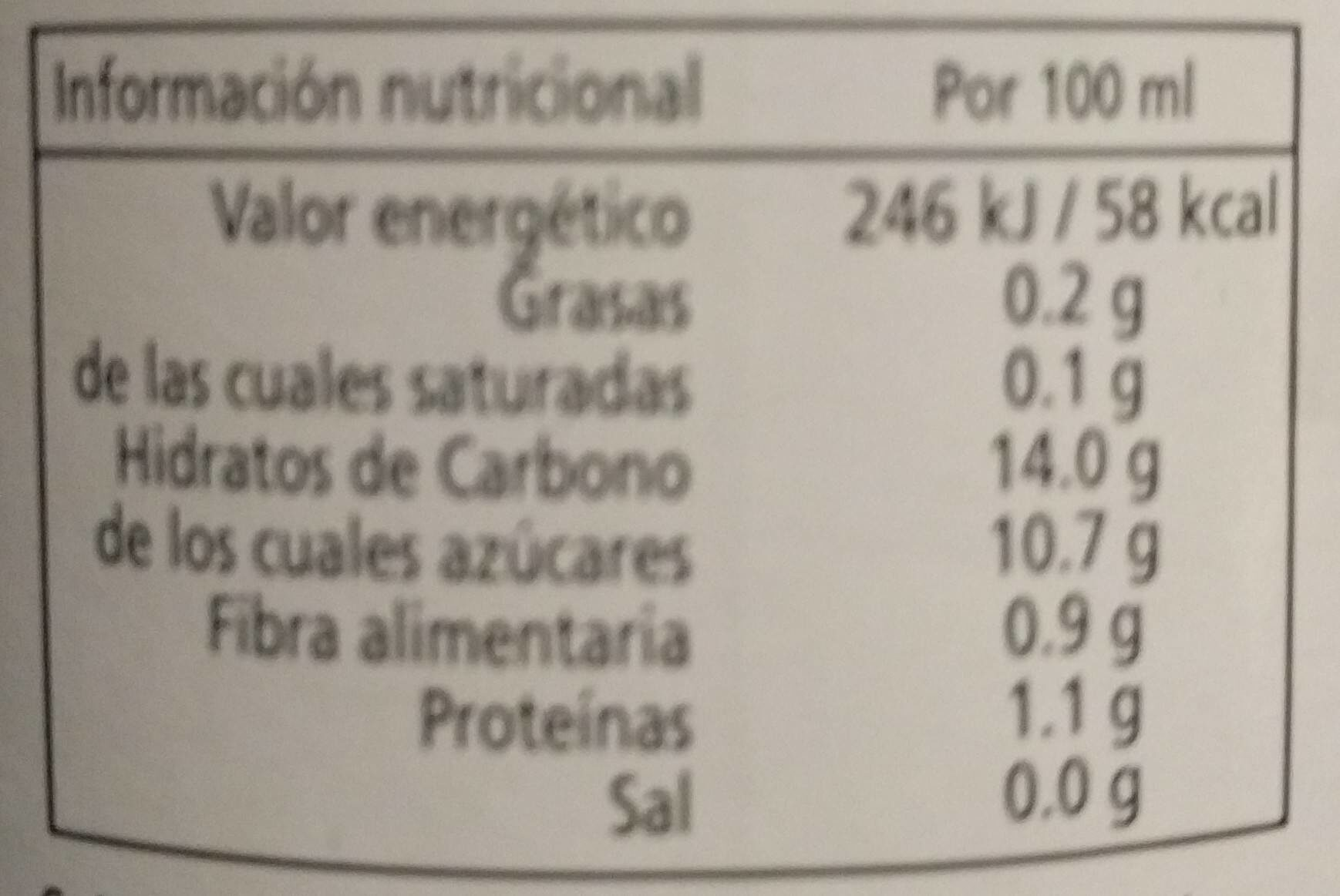 Cal Valls Orange Juice Eco - Voedigswaarden