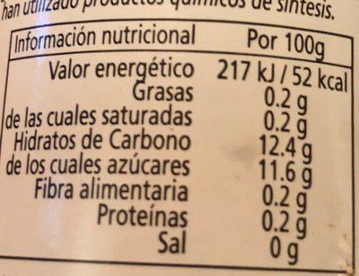 Limonada bio - Nutrition facts