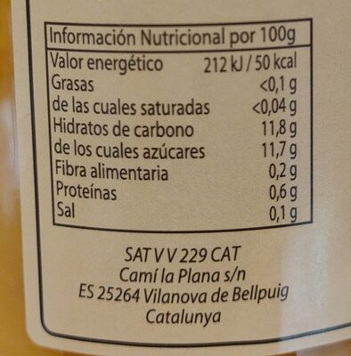 Suc de Mandarina - Agricultura Ecològica - Voedingswaarden - es
