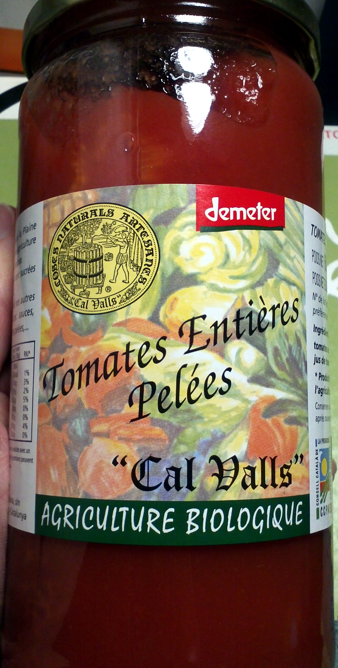 """Tomates Entières Pelées """"Cal Valls"""" - Product"""